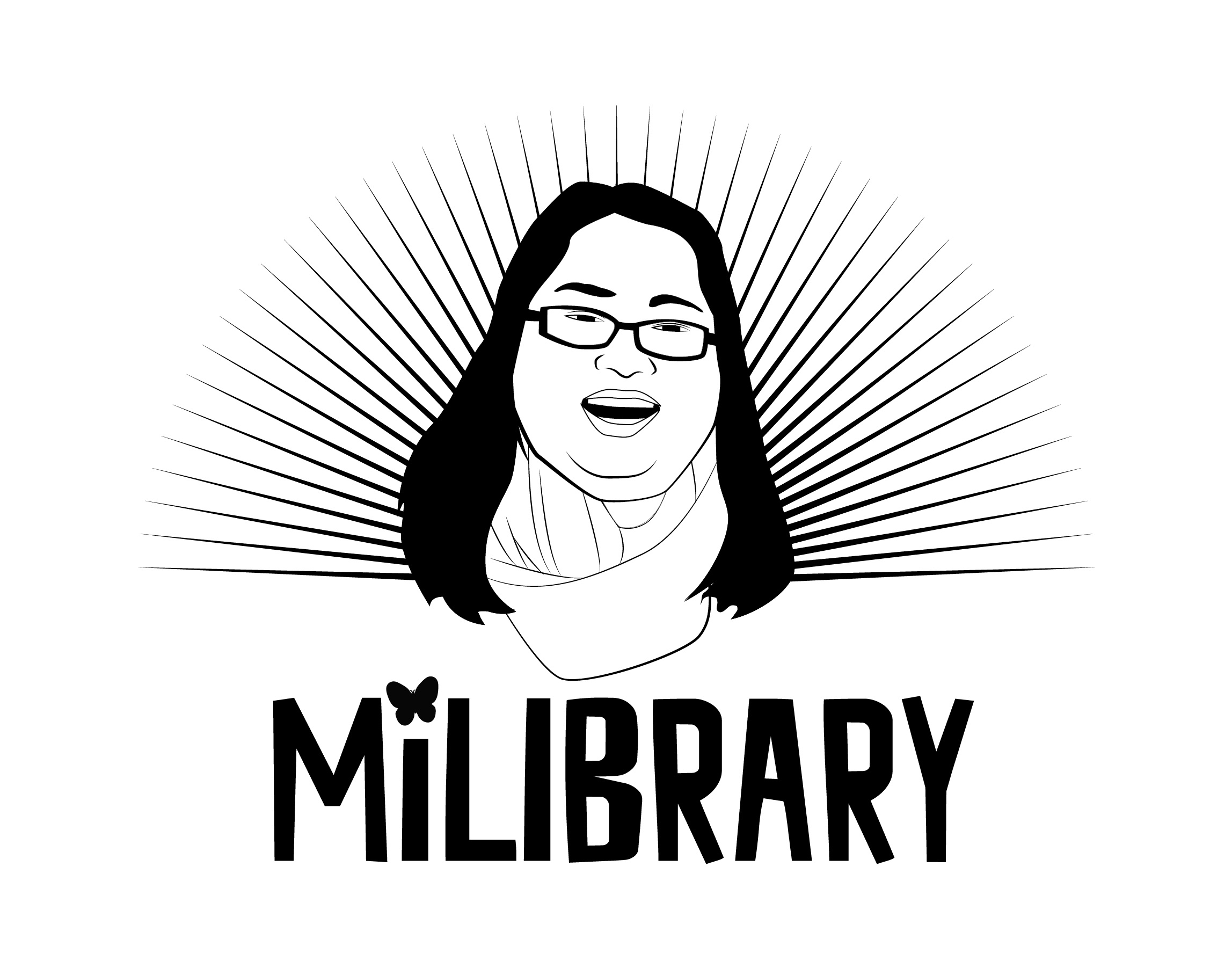 MiLibrary image with face of woman in glasses and smile.